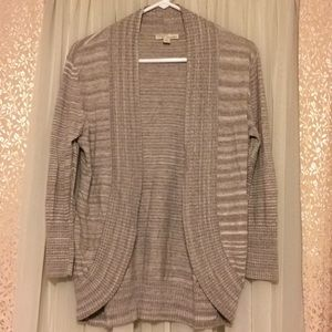 New York & Company open cardigan taupe Medium